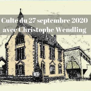 Culte du 27 septembre