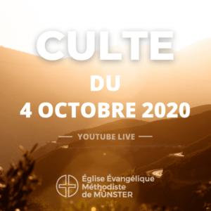 Culte du 4 octobre